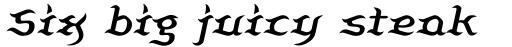 Beluga Italic sample