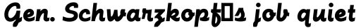 Futura Script Regular sample