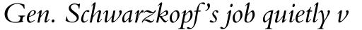 Aldine 401 Std Italic sample