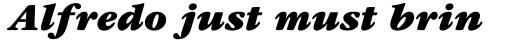 ITC Garamond Ultra Italic sample