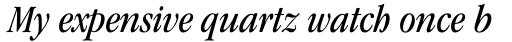 ITC Garamond Cond Book Italic sample