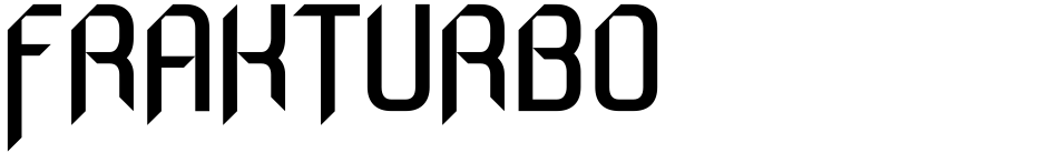 Click to view  Frakturbo font, character set and sample text