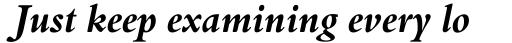 Aldine 401 Std Bold Italic sample