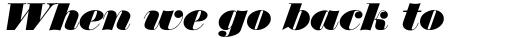 Thorowgood Italic sample