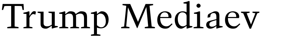 Click to view  Trump Mediaeval Office font, character set and sample text