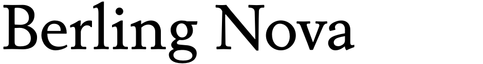 Click to view  Berling Nova font, character set and sample text