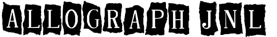Click to view  Allograph JNL font, character set and sample text