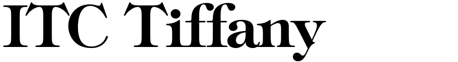 Click to view  ITC Tiffany font, character set and sample text