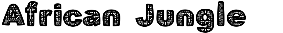 Click to view  African Jungle font, character set and sample text