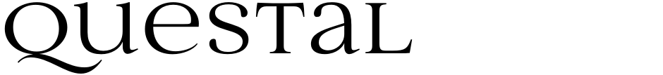 Click to view  Questal font, character set and sample text
