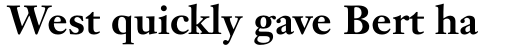 Janson Text Bold sample