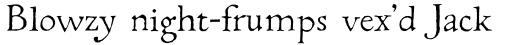 Caslon Manuscript sample