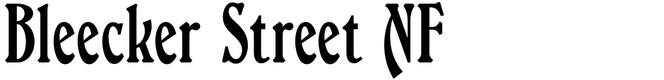Click to view  Bleecker Street NF font, character set and sample text