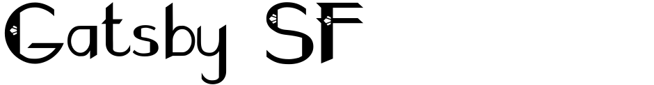 Click to view  Gatsby SF font, character set and sample text