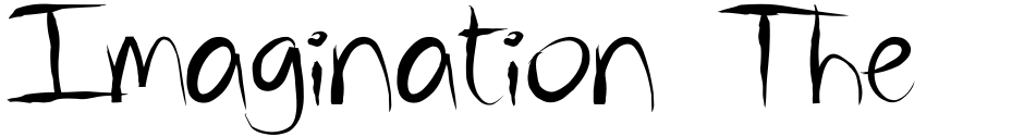 Click to view  Imagination Theory font, character set and sample text