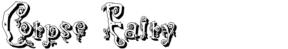 Click to view  Corpse Fairy font, character set and sample text