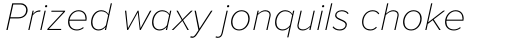 Proxima Nova Thin Italic sample