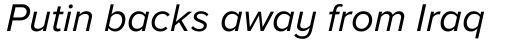 Proxima Nova A Italic sample
