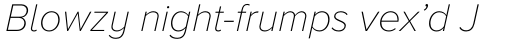 Proxima Nova A Thin Italic sample