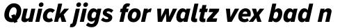 Proxima Nova A Cond ExtraBold Italic sample
