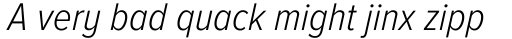 Proxima Nova A Cond Light Italic sample
