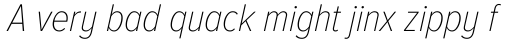 Proxima Nova A Cond Thin Italic sample
