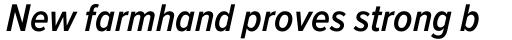 Proxima Nova Cond SemiBold Italic sample