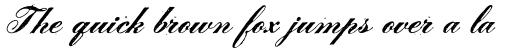 Le Script Regular sample