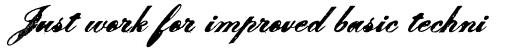 Le Script Bold sample