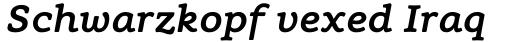 Flembo Text Bold Italic sample
