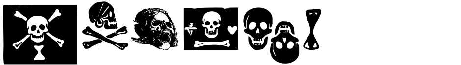 Click to view  Pirates De Luxe font, character set and sample text