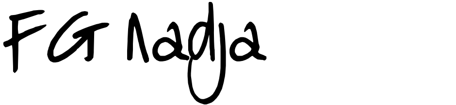 Click to view  FG Nadja font, character set and sample text