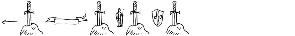 Click to view  Garabata font, character set and sample text