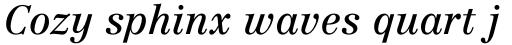 Centennial Italic sample