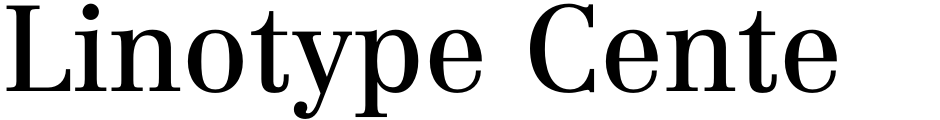 Click to view  Linotype Centennial font, character set and sample text
