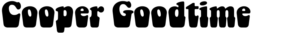 Click to view  Cooper Goodtime font, character set and sample text