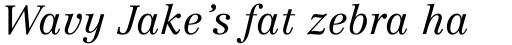 Centennial Light Italic sample