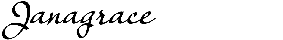 Click to view  Janagrace font, character set and sample text