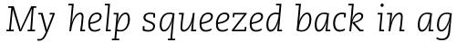 Caecilia LT Std Light Italic sample