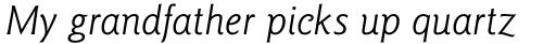 Goudy Sans Std Book Italic sample
