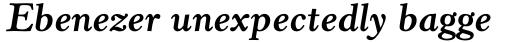 Horley Old Style MT Std Bold Italic sample