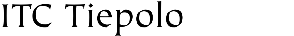 Click to view  ITC Tiepolo font, character set and sample text