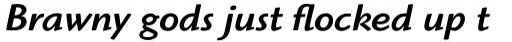 ITC Highlander Std Medium Italic sample