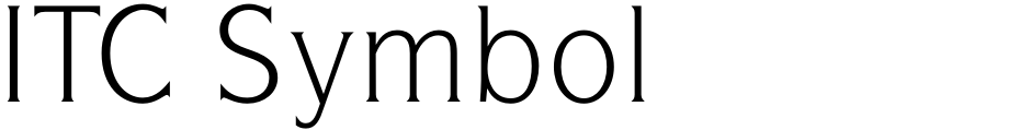 Click to view  ITC Symbol font, character set and sample text