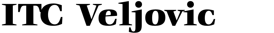 Click to view  ITC Veljovic font, character set and sample text