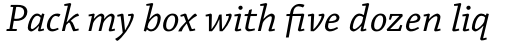 Chaparral Pro Italic Caption sample