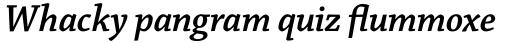 Chaparral Pro Semibold Italic Subhead sample