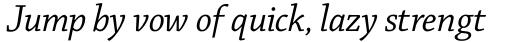 Chaparral Pro Italic Subhead sample