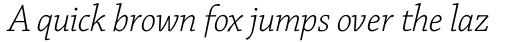 Chaparral Pro Light Italic Subhead sample