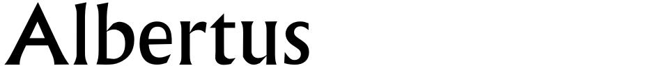 Click to view  Albertus font, character set and sample text